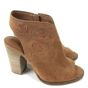 Lucky Brand Womens Sandal Listana Suede 6.5 Wedge